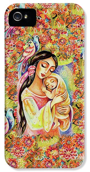 IPhone 5 Case featuring the painting Little Angel Dreaming by Eva Campbell