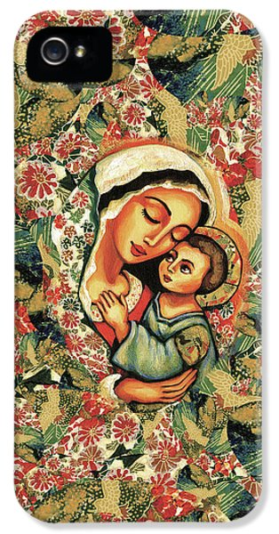 IPhone 5 Case featuring the painting The Blessed Mother by Eva Campbell