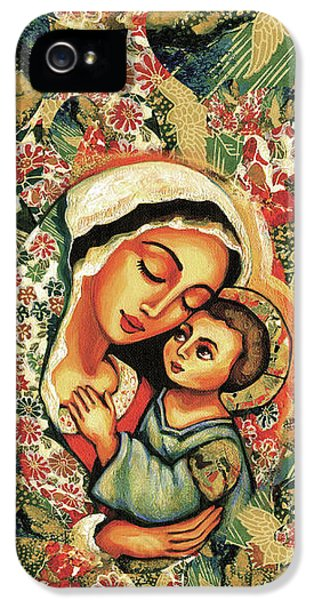 The Blessed Mother IPhone 5 Case by Eva Campbell
