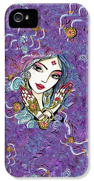 IPhone 5 Case featuring the painting Hands Of India by Eva Campbell