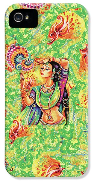 IPhone 5 Case featuring the painting The Dance Of Tara by Eva Campbell