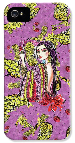 IPhone 5 Case featuring the painting Soul Of India by Eva Campbell