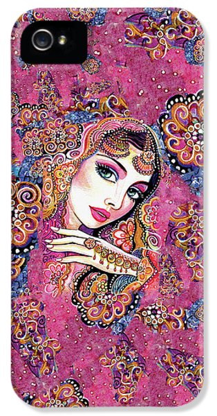 IPhone 5 Case featuring the painting Kumari by Eva Campbell