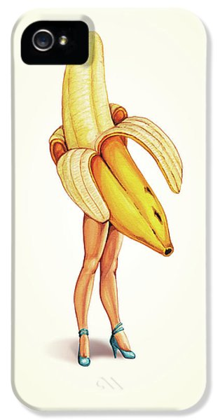 Fruit Stand - Banana IPhone 5 Case by Kelly Gilleran