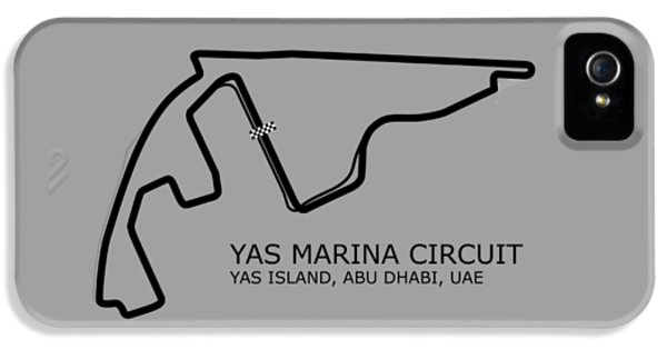 Yas Marina Circuit IPhone 5 Case by Mark Rogan