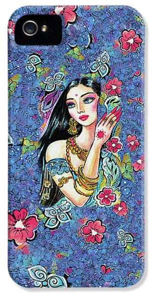 IPhone 5 Case featuring the painting Gita by Eva Campbell