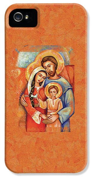 IPhone 5 Case featuring the painting The Holy Family by Eva Campbell