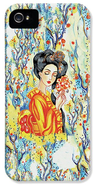IPhone 5 Case featuring the painting Harmony by Eva Campbell