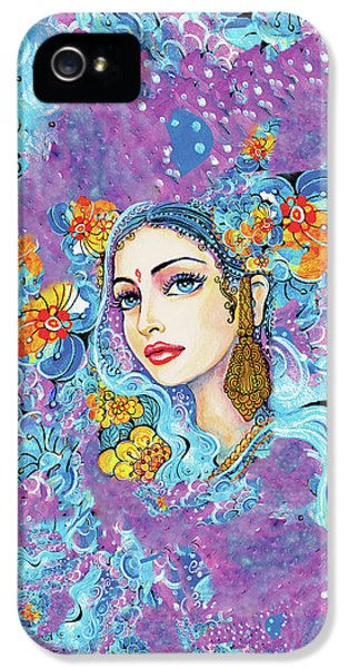 IPhone 5 Case featuring the painting The Veil Of Aish by Eva Campbell