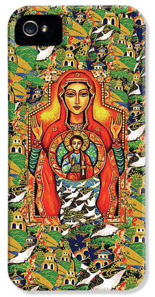 IPhone 5 Case featuring the painting Our Lady Of The Sign by Eva Campbell