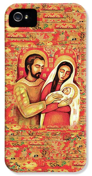 IPhone 5 Case featuring the painting Holy Family by Eva Campbell