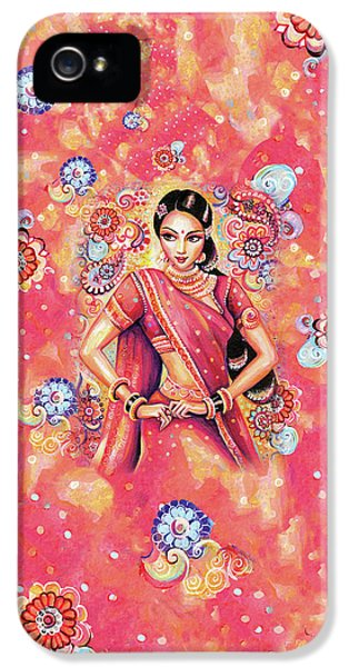 IPhone 5 Case featuring the painting Devika Dance by Eva Campbell
