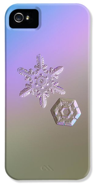 Snowflake Photo - Two Hearts IPhone 5 / 5s Case by Alexey Kljatov