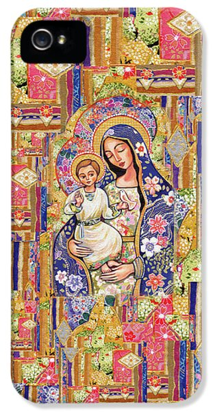 IPhone 5 Case featuring the painting Panagia Eleousa by Eva Campbell