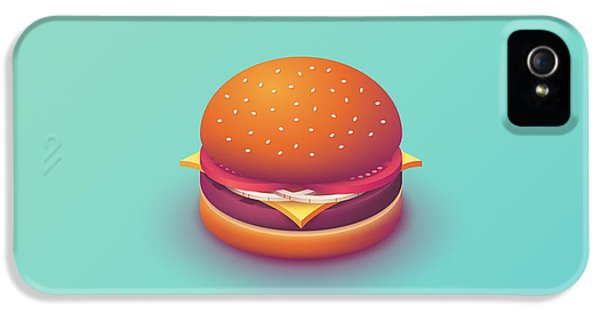 Day iPhone 5 Case - Burger Isometric - Plain Mint by Ivan Krpan