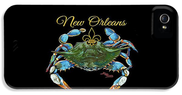 Louisiana Blue On Red IPhone 5 Case by Dianne Parks