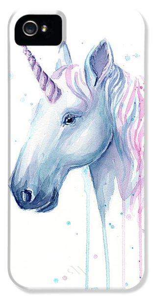 Magician iPhone 5 Case - Cotton Candy Unicorn by Olga Shvartsur