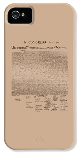 The Declaration Of Independence IPhone 5 Case by War Is Hell Store