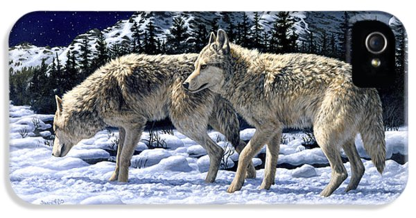 Wolves - Unfamiliar Territory IPhone 5 / 5s Case by Crista Forest