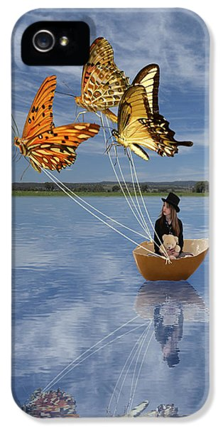 Butterfly Sailing IPhone 5 Case by Linda Lees
