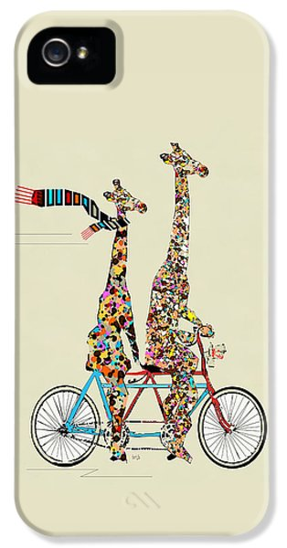 Bicycle iPhone 5 Case - Giraffe Days Lets Tandem by Bleu Bri