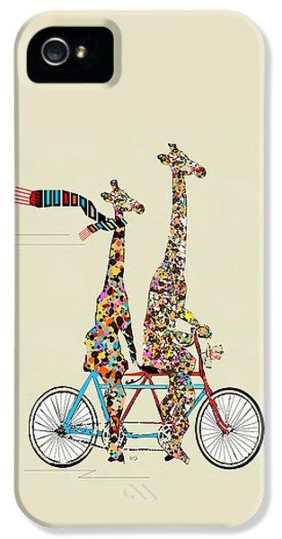 Giraffe Days Lets Tandem IPhone 5 Case by Bri B