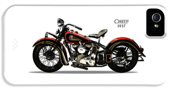 Indian Chief 1937 IPhone 5 Case by Mark Rogan