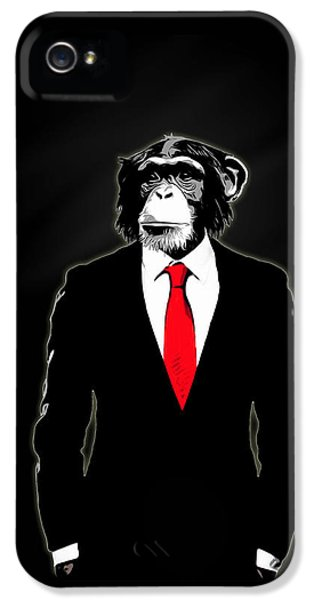 Domesticated Monkey IPhone 5 Case by Nicklas Gustafsson