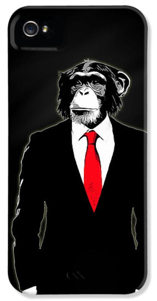 Zoo iPhone 5 Cases - Domesticated Monkey iPhone 5 Case by Nicklas Gustafsson
