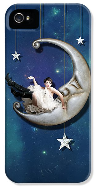 Paper Moon IPhone 5 Case by Linda Lees