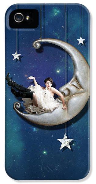 Fantasy iPhone 5 Case - Paper Moon by Linda Lees