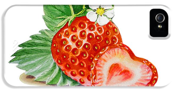 Artz Vitamins A Strawberry Heart IPhone 5 Case by Irina Sztukowski