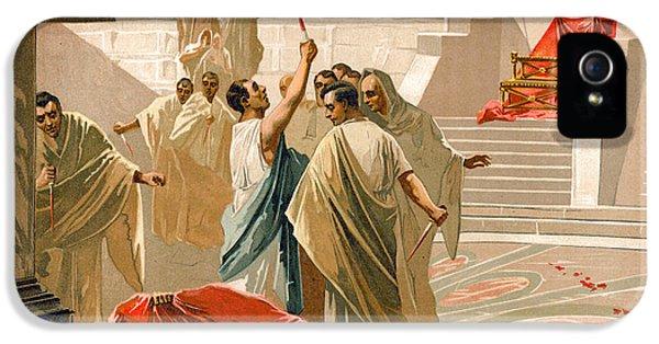 Assassination Of Julius Caesar IPhone 5 Case by Spanish School