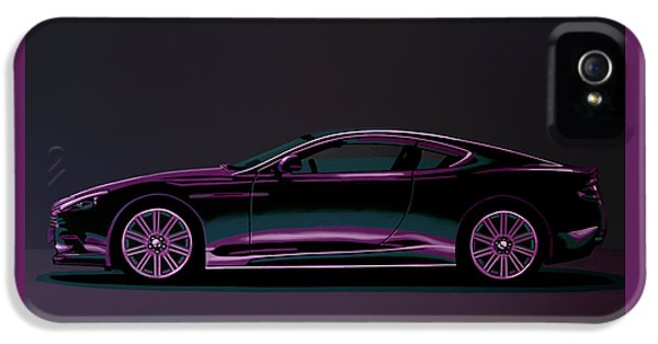 Beetle iPhone 5 Case - Aston Martin Dbs V12 2007 Painting by Paul Meijering