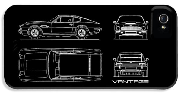 Aston Martin V8 Vantage Blueprint IPhone 5 Case