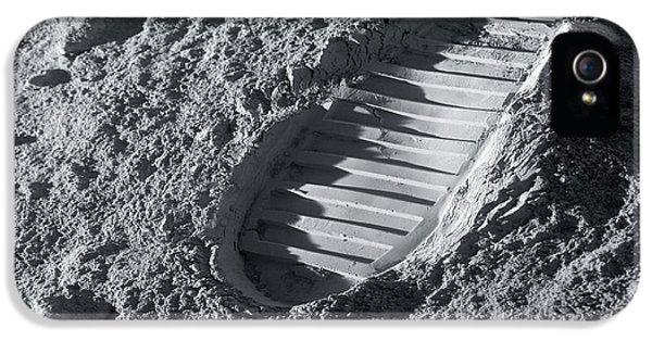 Astronaut Footprint On The Moon IPhone 5 Case by Detlev Van Ravenswaay
