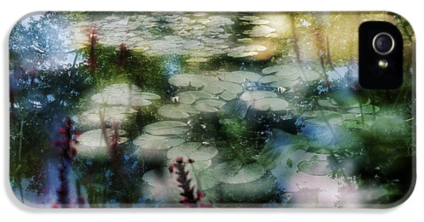 IPhone 5 Case featuring the photograph At Claude Monet's Water Garden 2 by Dubi Roman