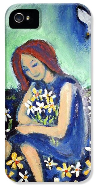 IPhone 5 Case featuring the painting At Peace by Winsome Gunning