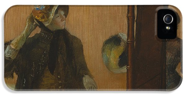 At The Milliner's, 1882 IPhone 5 Case by Edgar Degas