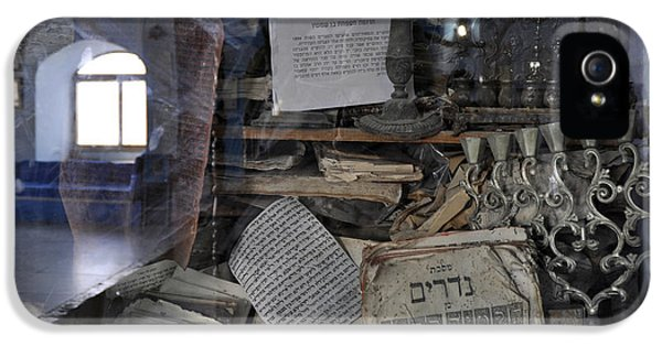 IPhone 5 Case featuring the photograph At The Old Tample Of Safed  by Dubi Roman