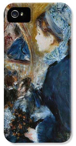At The Theater IPhone 5 Case by Pierre Auguste Renoir