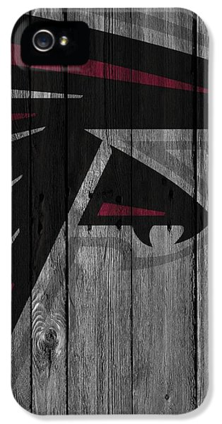 Atlanta Falcons Wood Fence IPhone 5 / 5s Case by Joe Hamilton