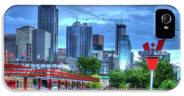 Atlanta Landmark The Varsity Art IPhone 5 Case by Reid Callaway