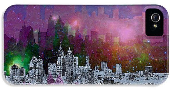 Landscape iPhone 5 Case - Atlanta Skyline 7 by Alberto RuiZ