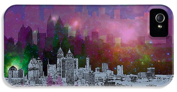 City Scenes iPhone 5 Case - Atlanta Skyline 7 by Alberto RuiZ