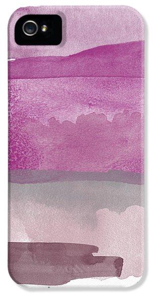 Aubergine Wash- Art By Linda Woods IPhone 5 Case