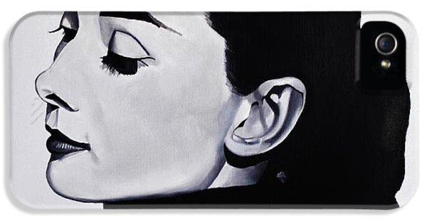 Audrey Hepburn iPhone 5 Case - Audrey Hepburn 1 by Brian Broadway