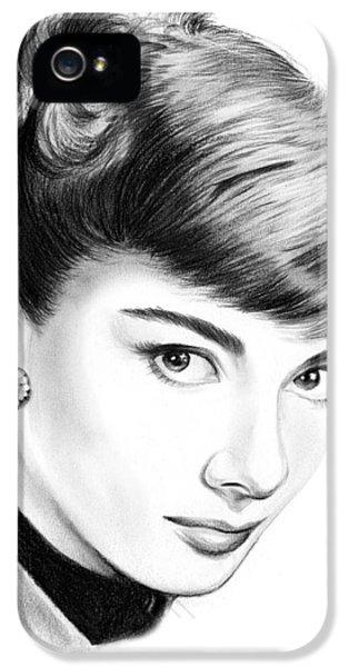 Audrey Hepburn iPhone 5 Case - Audrey Hepburn by Greg Joens