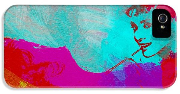 Film Watercolor iPhone 5 Cases - Audrey Hepburn iPhone 5 Case by Naxart Studio