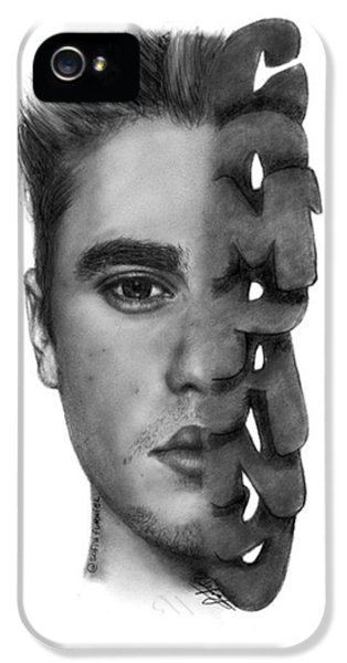 iPhone 5 Case - Justin Bieber Drawing By Sofia Furniel by Jul V